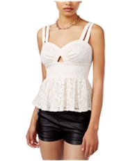 Material Girl Womens Lacey Strappy Cami Tank Top