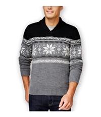 Club Room Mens Fair Isle Shawl Sweater