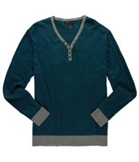 I-N-C Mens Henley Pullover Sweater