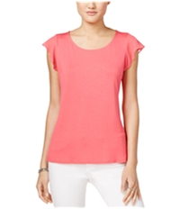 Maison Jules Womens Flutter Sleeve Basic T-Shirt