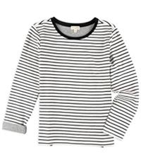 Maison Jules Womens Stripes Embellished T-Shirt
