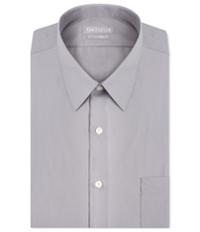 Van Heusen Mens Fitted Poplin Button Up Dress Shirt