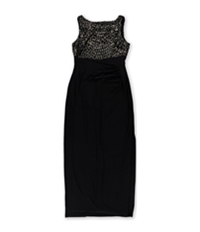Ralph Lauren Womens Sequined Gown Dress