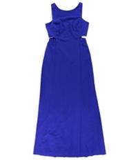 Ralph Lauren Womens Cutout Crepe Maxi Dress