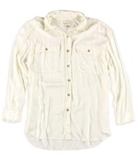 Ralph Lauren Womens Satin Military Button Up Shirt