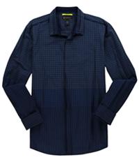 I-N-C Mens Mixed Print Button Up Shirt