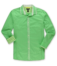 I-N-C Mens Slim Fit Resort Button Up Shirt