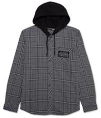 Jem Mens Plaid Flannel Hoodie Sweatshirt