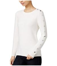Maison Jules Womens Button-Trim Knit Sweater