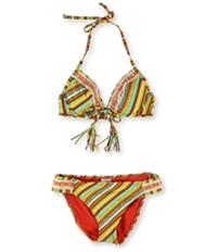 Lucky Brand Womens Santiago Crochet Hipster 2 Piece Bikini