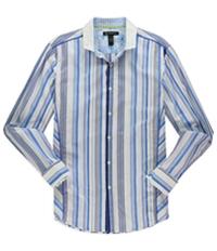 I-N-C Mens Variegated Button Up Shirt