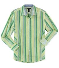 I-N-C Mens Striped Button Up Shirt
