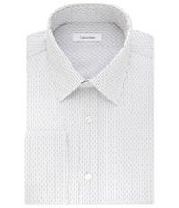 Calvin Klein Mens Classic Fit Broadcloth Button Up Dress Shirt