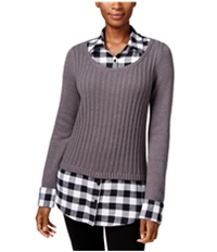 Style & Co. Womens Layered-Look Pullover Sweater