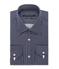 Sean John Mens Square Print Button Up Dress Shirt