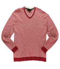 Tasso Elba Mens Two Tone Knit Pullover Sweater