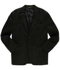Tasso Elba Mens Microchecked Two Button Blazer Jacket