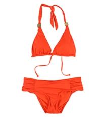 Bar Iii Womens Triangle Side Tab 2 Piece Bikini