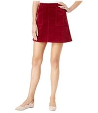 Maison Jules Womens Soft Solid A-Line Mini Skirt