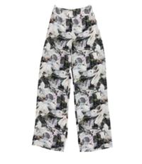 Bar Iii Womens Wide-Leg Casual Trouser Pants