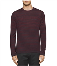 Calvin Klein Mens Jagged-Striped Pullover Sweater