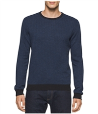 Calvin Klein Mens Merino Herringbone Knit Sweater