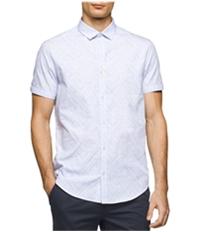 Calvin Klein Mens Jacquard Dressy Refined Button Up Shirt