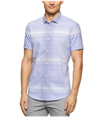 Calvin Klein Mens Dobby-Twill Button Up Shirt