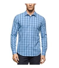 Calvin Klein Mens Twill Plaid Ls Button Up Shirt