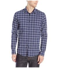 Calvin Klein Mens Textured Checked Button Up Shirt