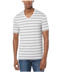 Perry Ellis Mens Wide Stripe V Graphic T-Shirt