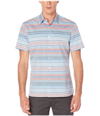 Perry Ellis Mens Striped Button Up Shirt