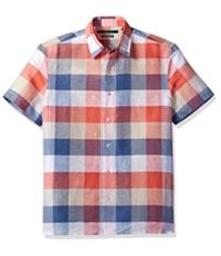 Perry Ellis Mens Buffalo Plaid Button Up Shirt