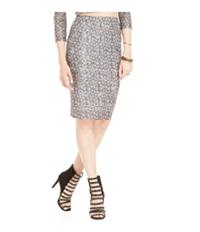 Material Girl Womens Patterned Mesh Pencil Skirt