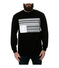 Black Scale Mens The Barcode Rebel Ls Graphic T-Shirt