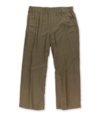 Style & Co. Womens Geometric Wide Casual Trouser Pants