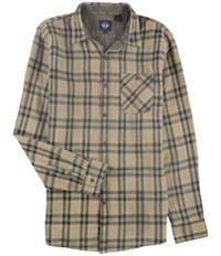Dockers Mens Double Weave Plaid Button Up Shirt
