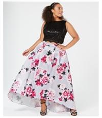 City Studio Womens Sequins Crop Top Blouse