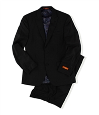 Tallia Mens Pinstripe Two Button Formal Suit