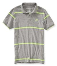 Aeropostale Mens A87 Striped Rugby Polo Shirt