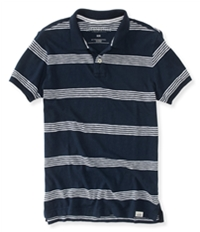 Aeropostale Mens Striped Rugby Polo Shirt