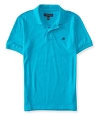 Aeropostale Mens A87 Heathered Rugby Polo Shirt