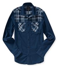 Aeropostale Mens Woven Mix Button Up Shirt