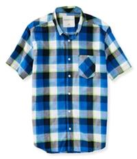 Aeropostale Mens Plaid Pocket Button Up Shirt