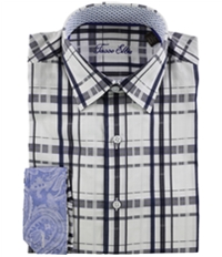 Tasso Elba Mens Yinetto Plaid Button Up Shirt