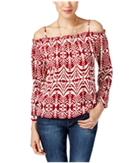 I-N-C Womens Printed Pullover Blouse