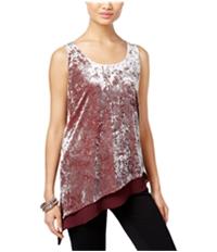 I-N-C Womens Crushed Velvet Pullover Blouse