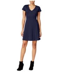 Maison Jules Womens Fit & Flare A-Line Dress