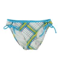 Hula Honey Womens Checkered Bikini Swim Bottom
