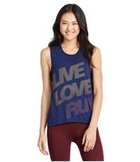 Aeropostale Womens Live Love Run Muscle Tank Top
